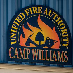 A Unified Fire Authority sign is pictured at Station 127 at Camp Williams on Thursday April 29, 2021.
