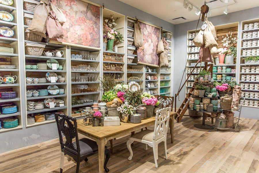 Anthropologie 39 s upgraded newport beach store offers major for In home decor store
