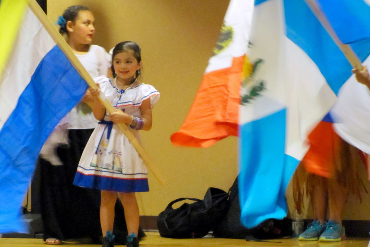 Children presented traditional dances at the Lynhurst International Festival on Wednesday in Wayne Township.