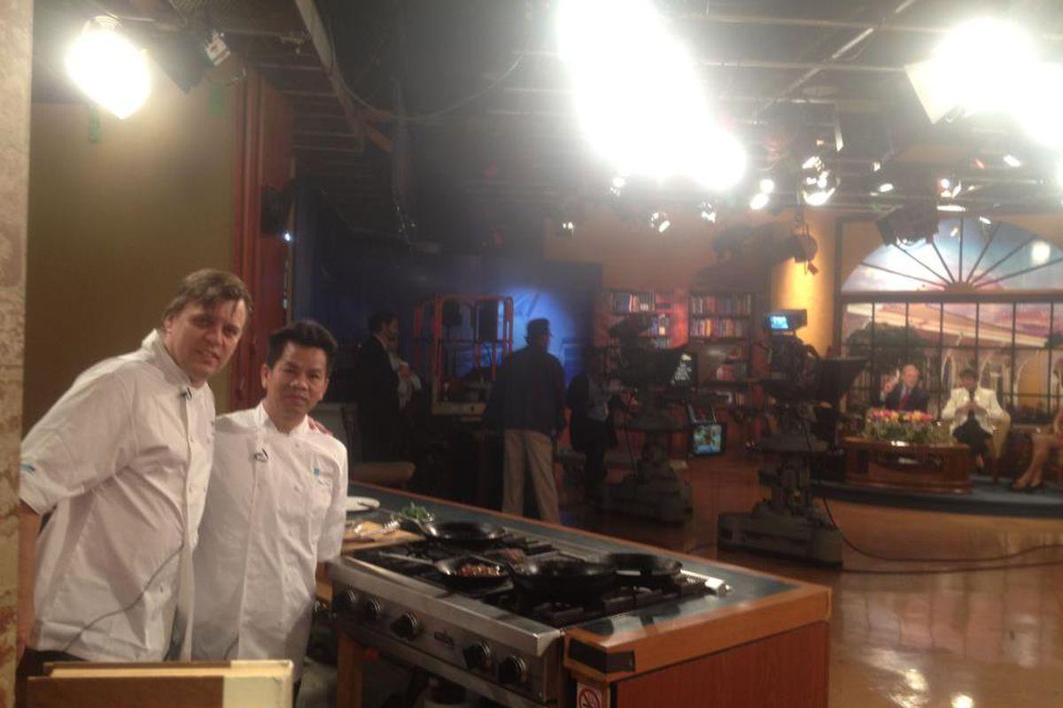 Chefs Dominique Macquet and Quan Tran