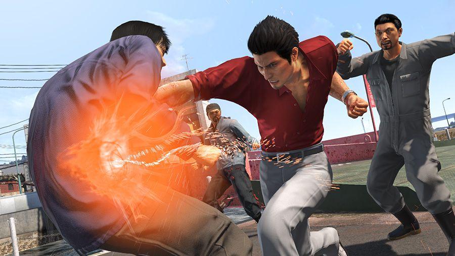 Kazuma Kiryu (of Yakuza) throwing a punch