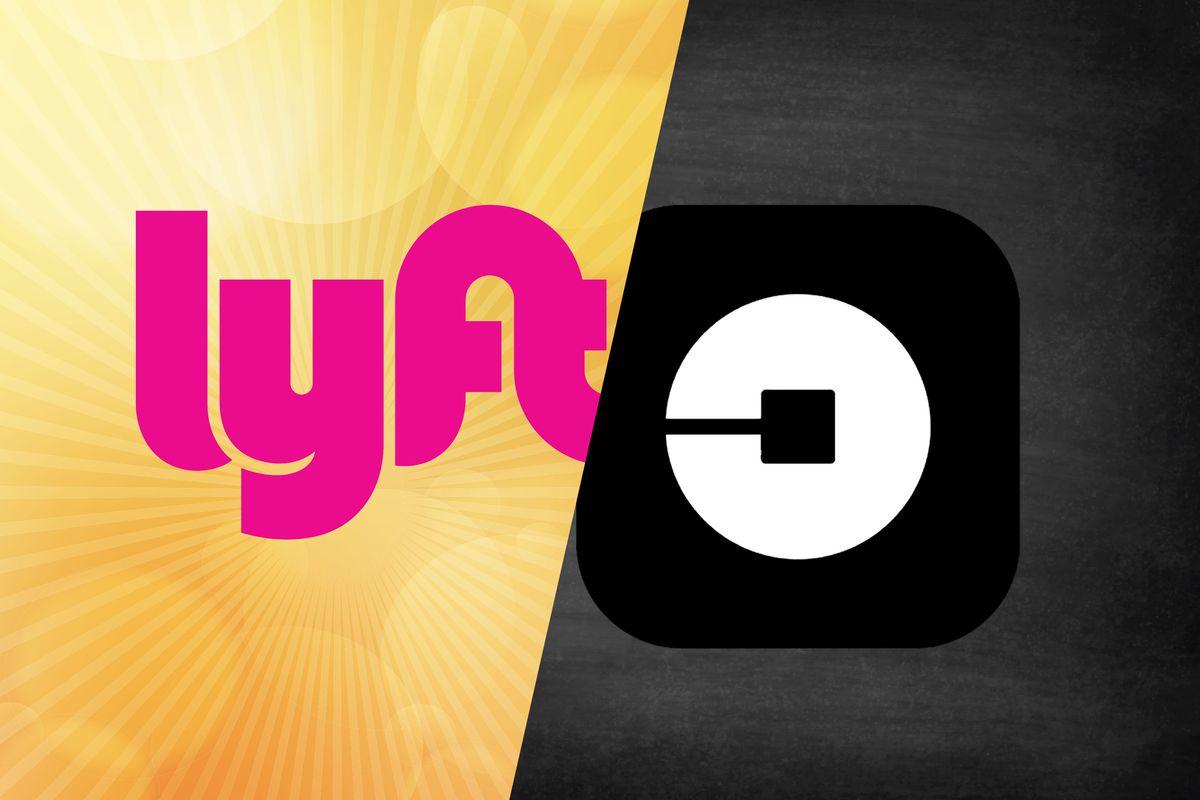 Lyft and Uber logos