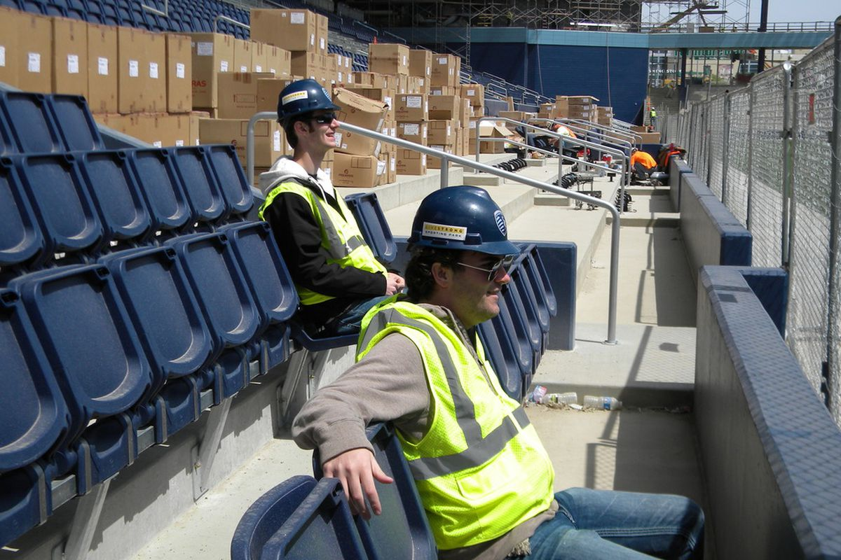Ted And Trent made the trip to the future home of <strong>Sporting KC</strong>, <strong>Livestrong Sporting Park</strong>, on Wednesday afternoon.