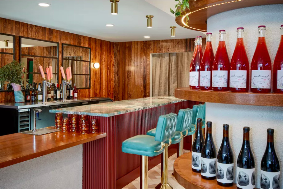 The interior of a wine shop and bar
