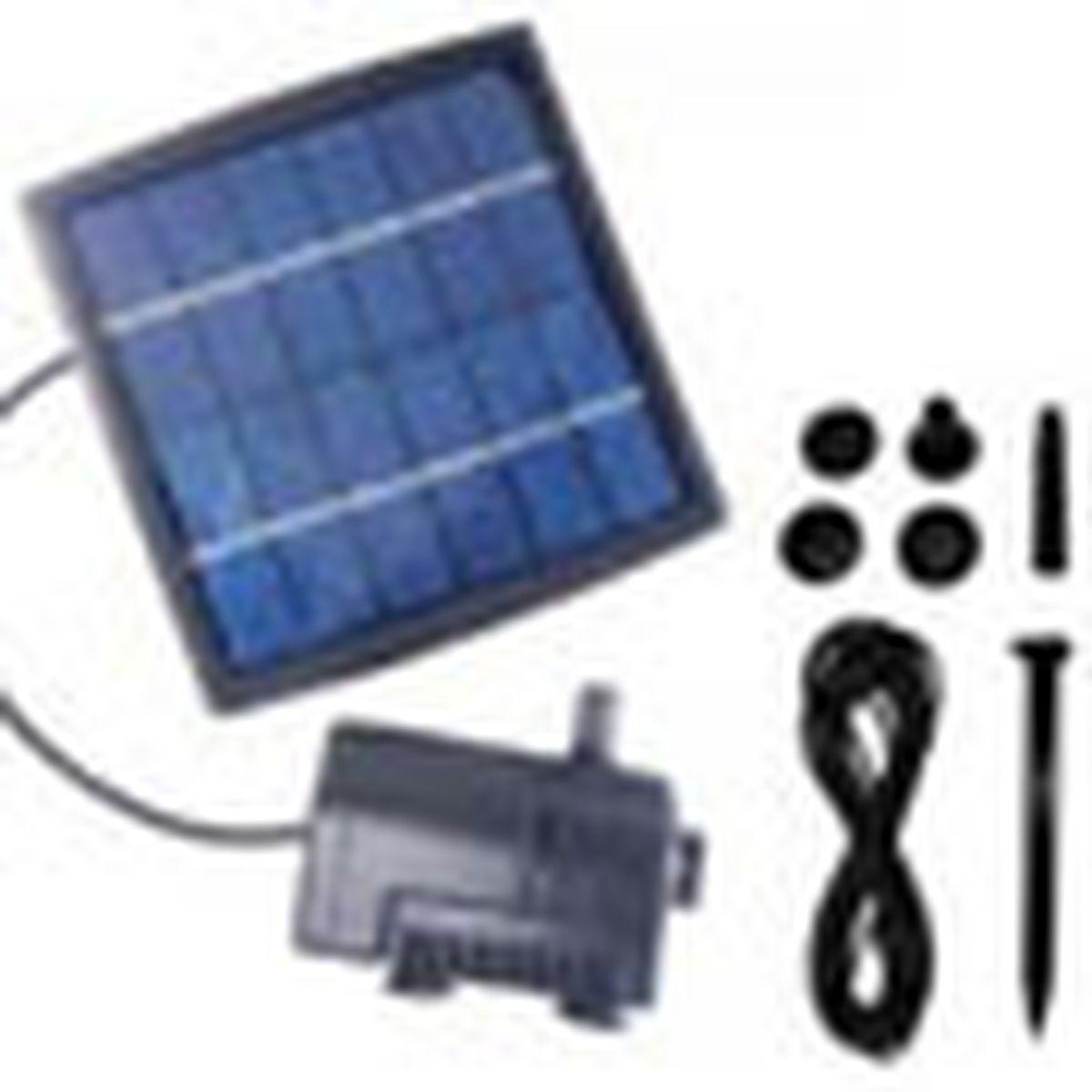 solar-powered fountain kit