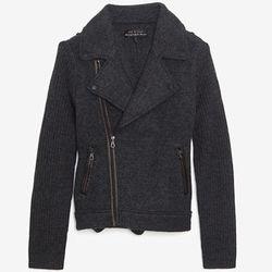 "<b>Rag & Bone</b> Exclusive Knit Moto Jacket in Charcoal, <a href=""http://www.intermixonline.com/product/rag+%26+bone+exclusive+knit+moto+jacket-+charcoal.do?sortby=ourPicks&CurrentCat=105318"">$595</a> at Intermix"