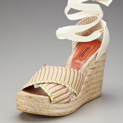 Missoni ankle tie espadrille sandal, reg $324. Gilt City Warehouse Sale price: $35.