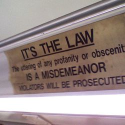 A sign on a bus in Richmond, Va.