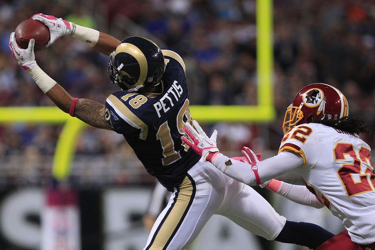 O...M...G!  A Rams' receiver didn't drop a pass.