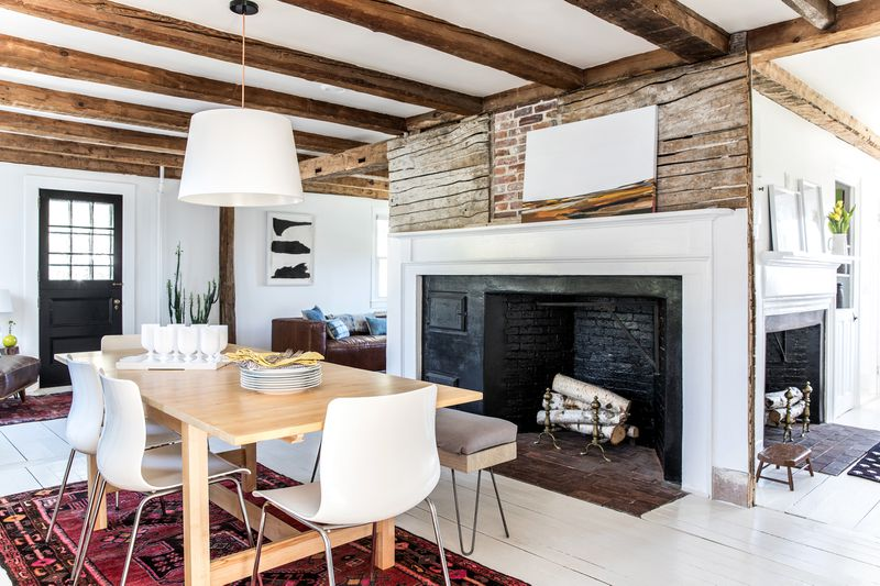 a Cape Cod-style remodel in Cumberland Foreside, ME, dining room