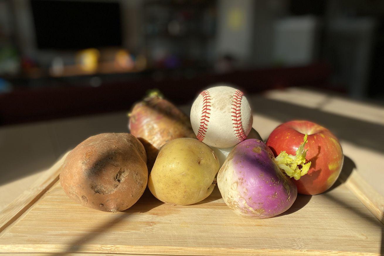 IMG 1440  1 .0 - What vegetables are best for carving into baseballs? A Secret Base investigation