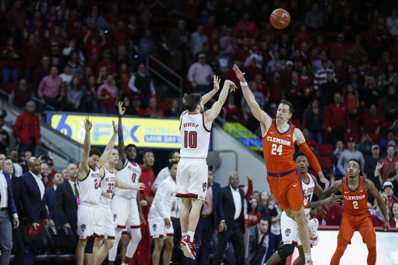 N.C. State stunned Clemson at the buzzer on January 26th in Raleigh. The Wolfpack might need to defeat the Tigers again to secure a place in the field of 68.