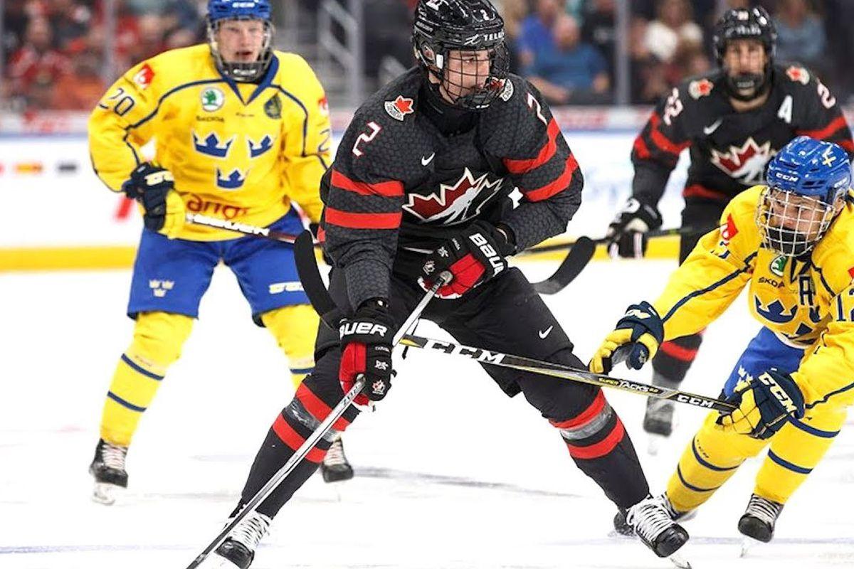 Justin Barron Team Canada