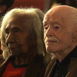 "Edith and Eddie at church in the Oscar-nominated documentary short ""Edith+Eddie."""