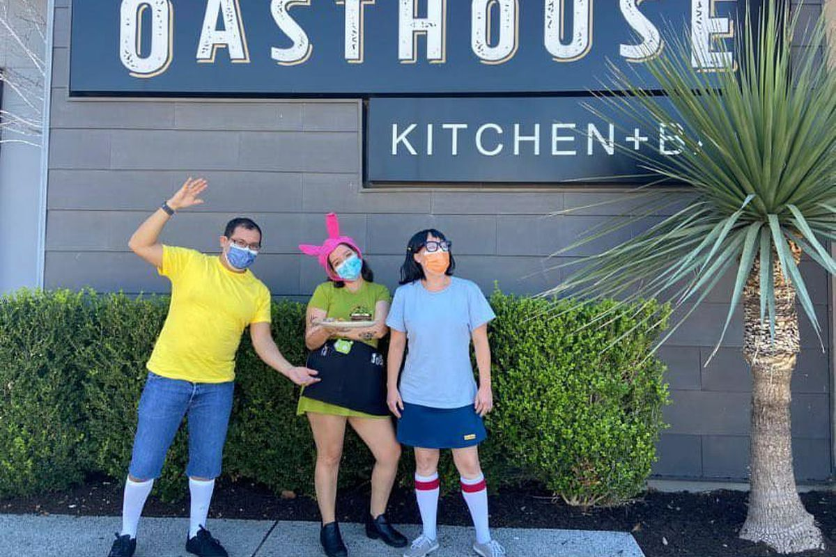 The Oasthouse staff as the Belcher kids from 'Bob's Burgers'