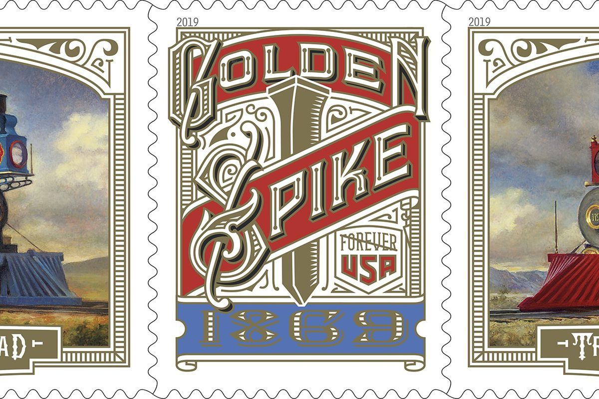 Trio Of Commemorative Golden Spike Stamps To Be Unveiled