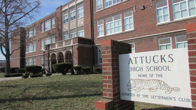 Crispus Attucks is a medical magnet high school with a storied history. (Scott Elliott)