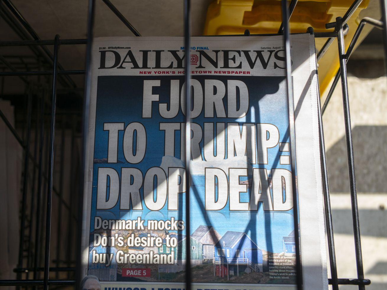 Daily News Headline Critical Of President Donald Trump
