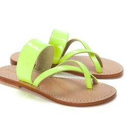 """<a href=""""http://www.intermixonline.com/product/shoes-and-handbags/shoes/mystique+neon+criss+cross+sandal.do?sortby=ourPicks""""> Mystique neon criss cross sandals</a>, $125 intermixonline.com"""