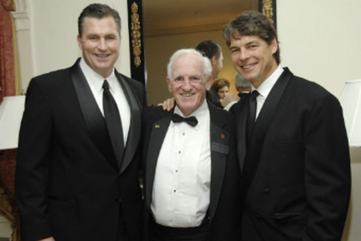 """Doug Marrone, Coach Mac and Tim Green clean up good, via <a href=""""http://www.suathletics.com/images/2009/12/9/small_MacMarroneGreen_BEN6247_web.jpg"""">www.suathletics.com</a>"""