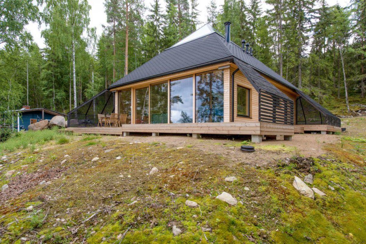pyramid-shaped cabin
