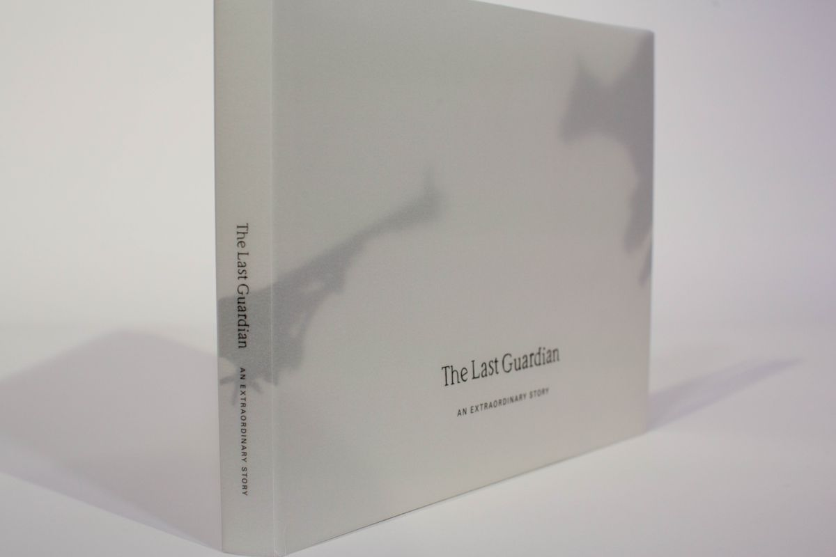 The Last Guardian: An Extraordinary Story companion book - front cover and spine