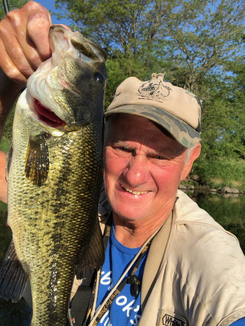 George Peters with a Kankakee River largemouth bass. Provided photo