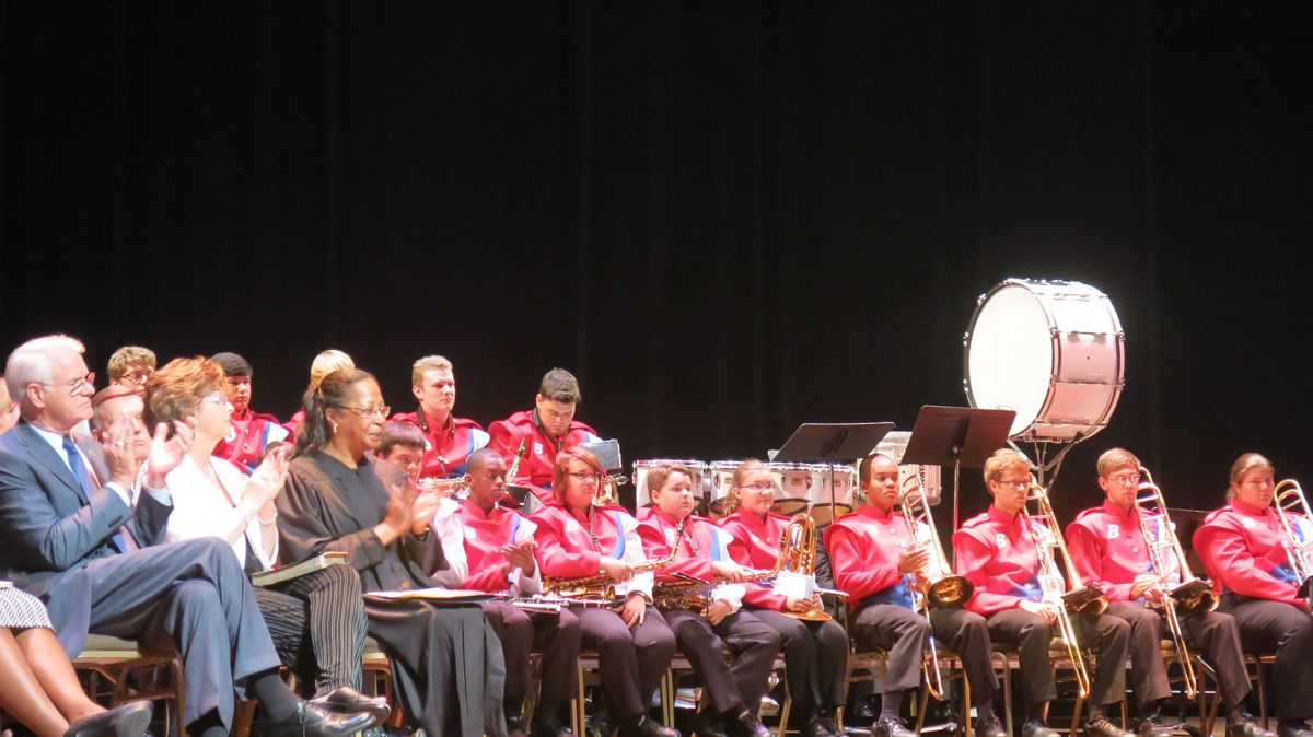 The Bartlett High School Ceremonial Band accompanied the ceremony.