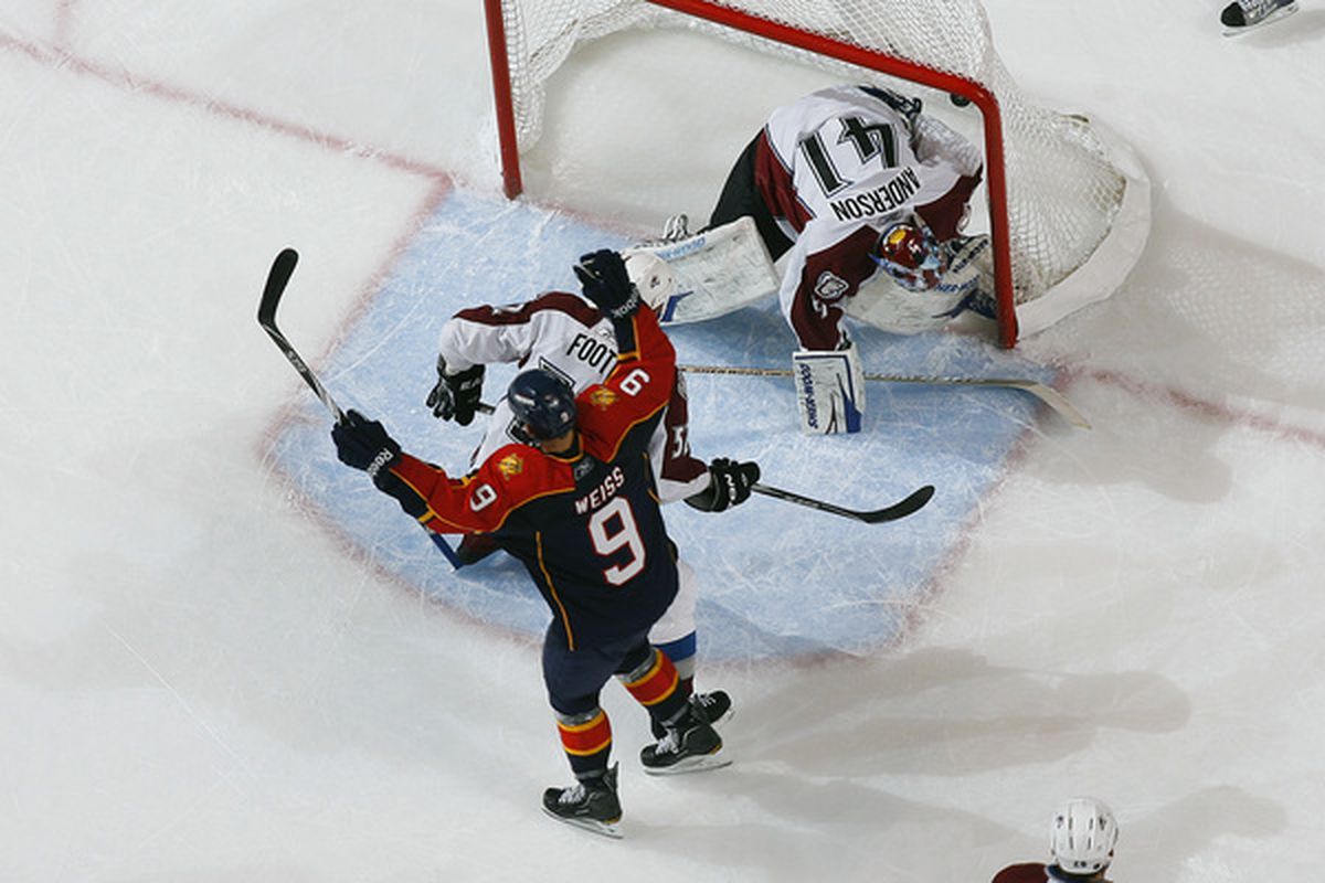 Unfortunately, the Panthers haven't been able to put a game winner past Craig Anderson this season.
