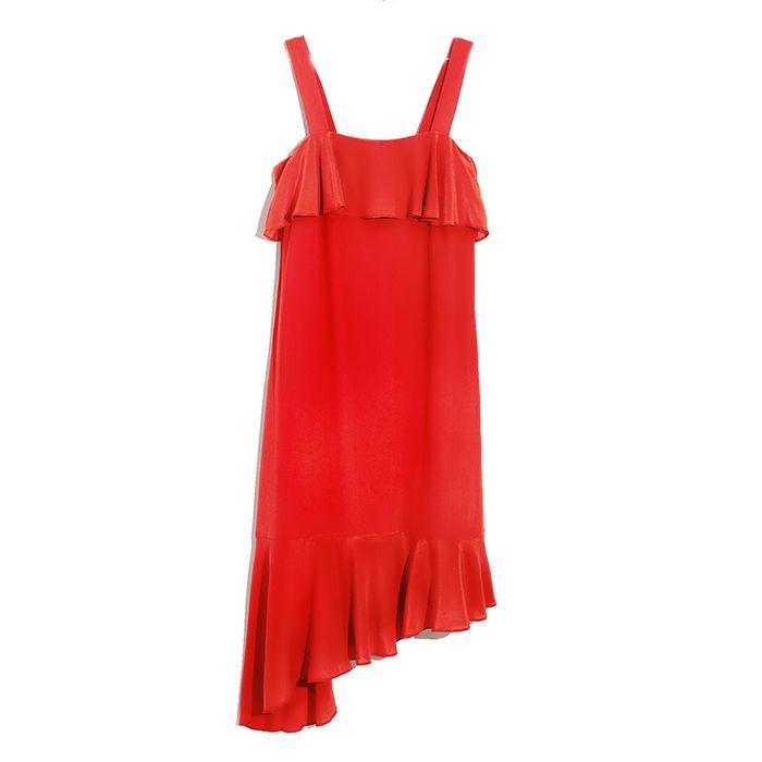 Madewell Silk Ruffle Tank Dress
