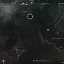 The Cosmodrome map in Destiny 2: Beyond Light