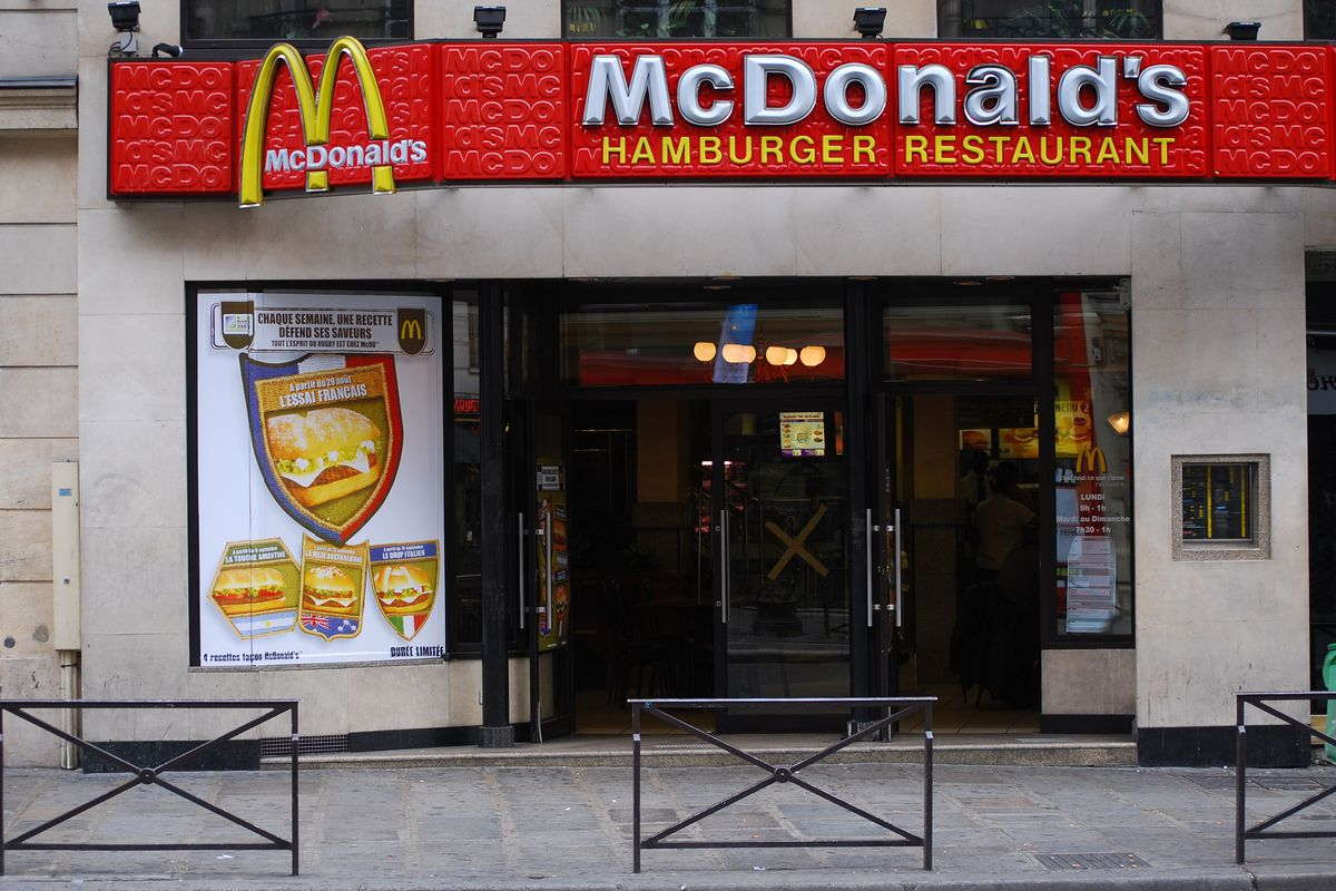 A McDonald's restaurant in Paris.