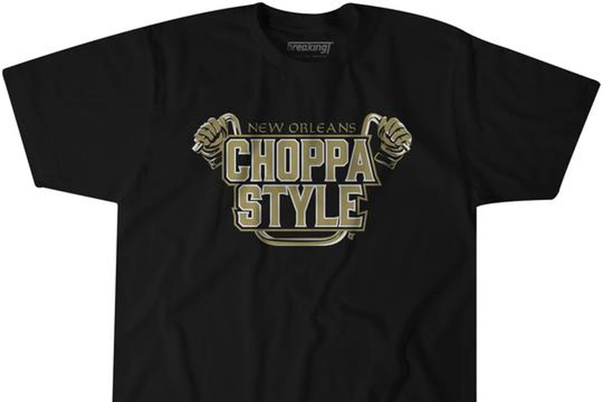 online retailer 8eb3b bb2d2 The Saints Choppa Style celebration is now a T-shirt for Who ...