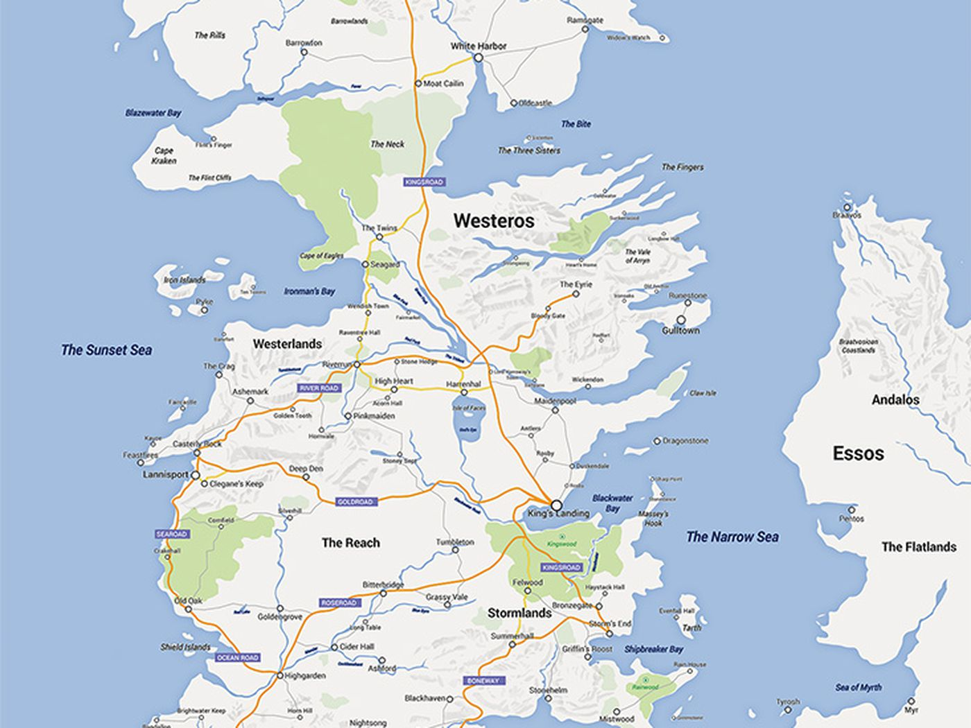 Someone made game of thrones into a google map and its amazing vox gumiabroncs Images