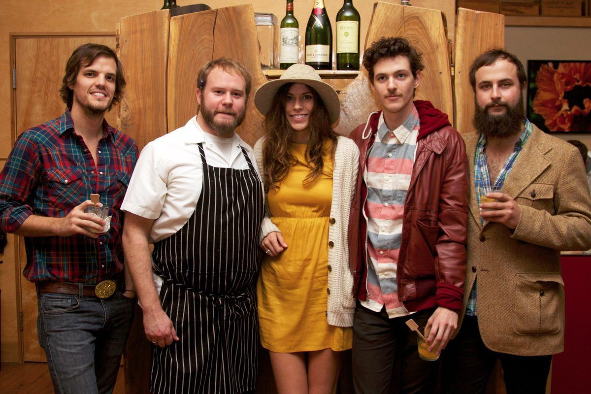 Zak Appleby, chef Nick Sullivan, Kate Toupin, Matt Myers and Shane Cody