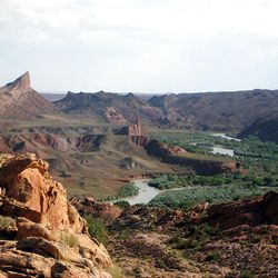 """This is the San Juan River valley from San Juan Hill, one of the locations in southern Utah referred to in a new book, """"The Undaunted,"""" by Gerald N. Lund."""