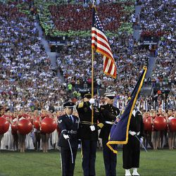 Color Guard at the Stadium of Fire at LaVell Edwards Stadium in Provo , Utah, Saturday, July 3, 2010. Matt Gillis, Deseret News