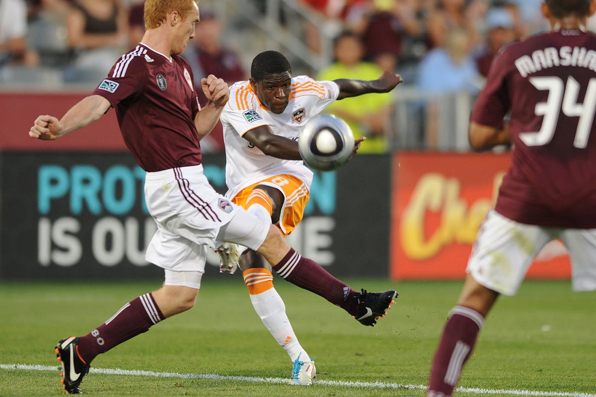 Coming right (side) at you: With Kofi Sarkodie, the uncertainty on Houston Dynamo's right side might just turn into one of the team's strongest assets this season.