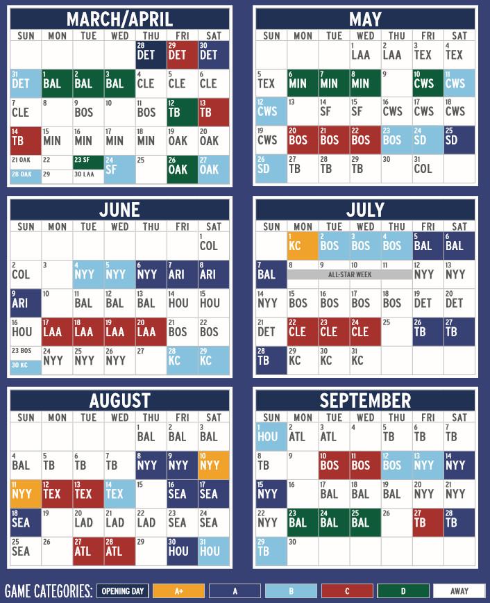 Blue Jays 2019 Schedule - Bluebird Banter