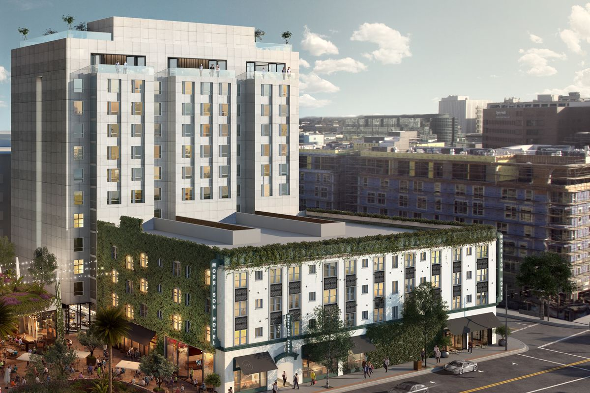 Downtown La S Morrison Hotel May Get 12 Story Tower