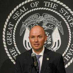 Utah Lt. Gov. Spencer Cox discusses the state's efforts to fight COVID-19 during a press conference at the Capitol in Salt Lake City on Thursday, June 25, 2020. The press conference was held mostly in Spanish in an effort to reach Utah's Latino community, which has been hard hit by the novel coronavirus.