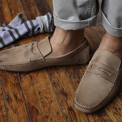 """Trend 1: Loafers. """"Warmer weather in my mind means time to get rid of my socks and bust out some great casual loafers, driving mocs, and other slip-ons.  Suedes, crepe soles, and a kilty."""""""