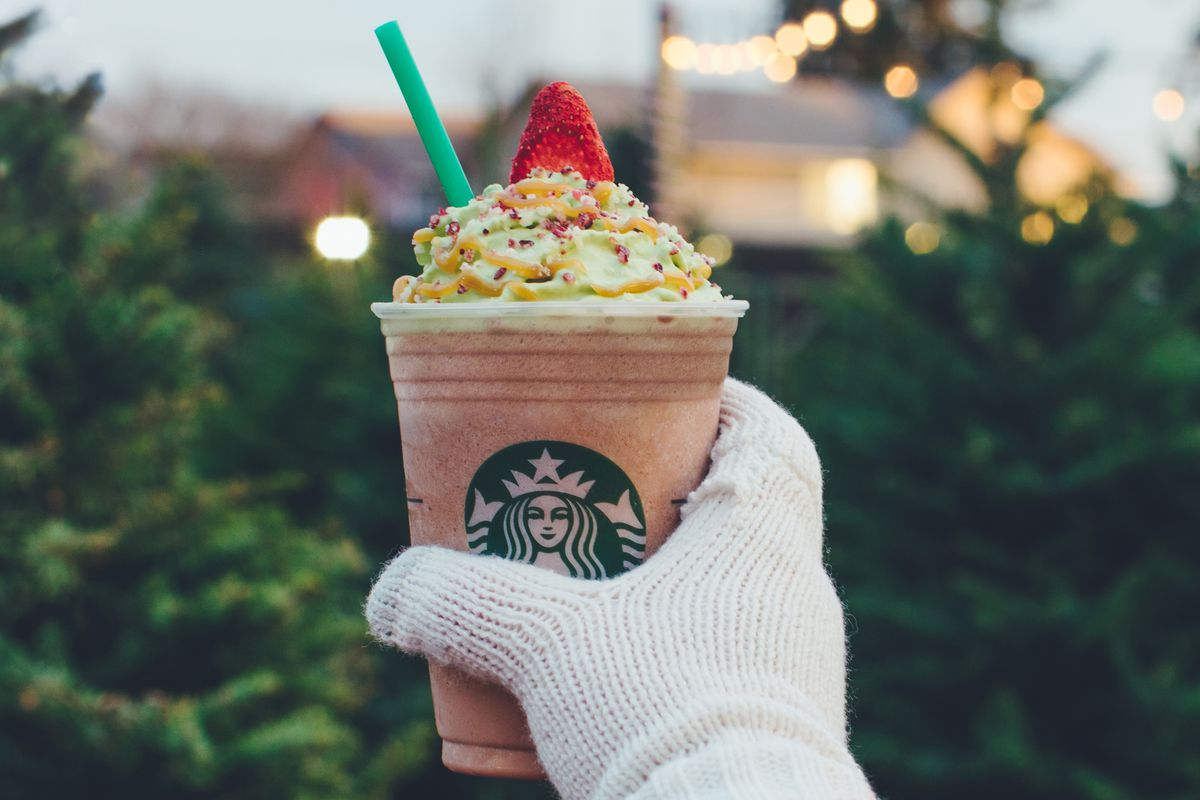 Starbucks Christmas Tree Frappuccino Is a Yuletide Sugar Rush - Eater