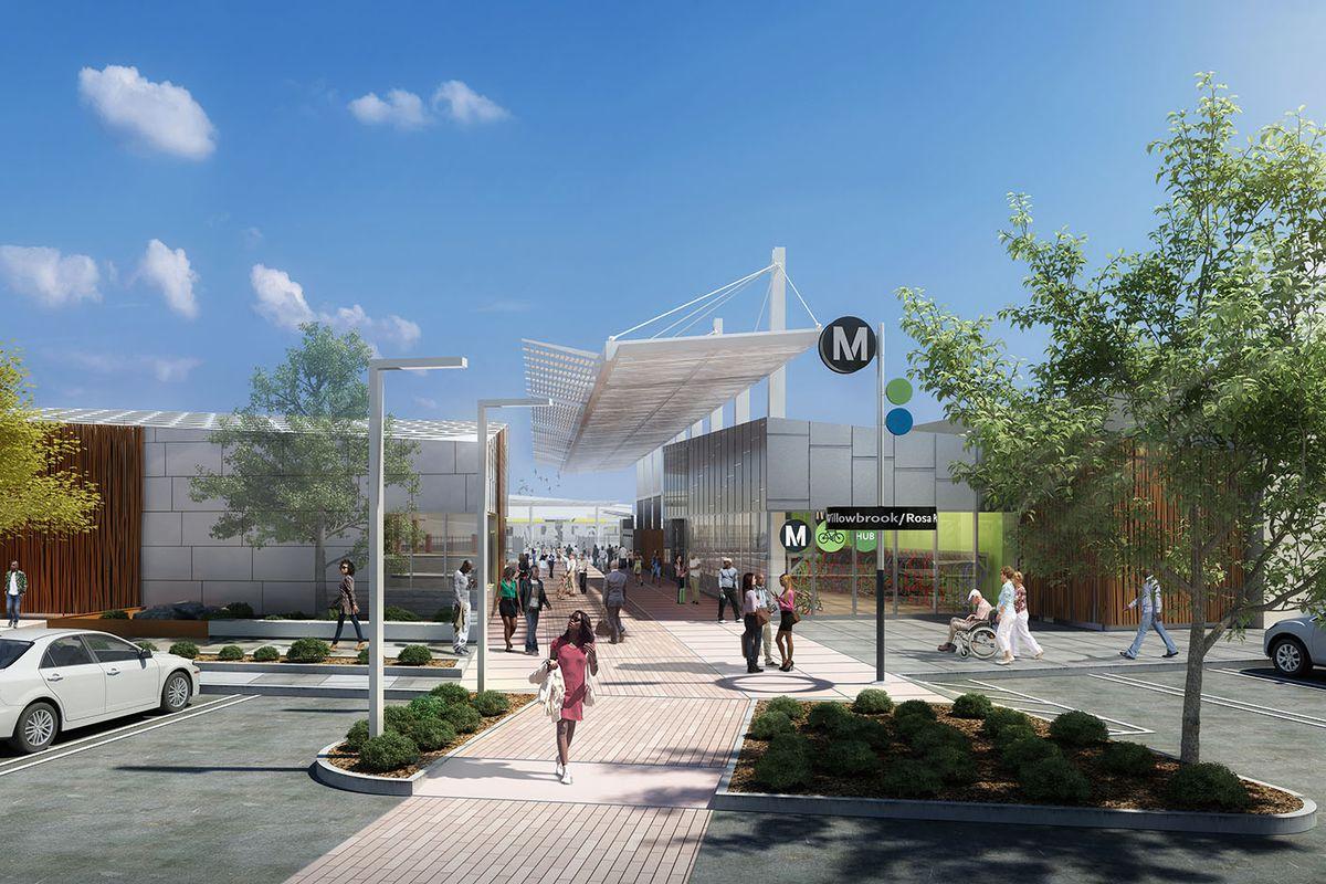 Rendering of Willowbrook/Rosa Parks station