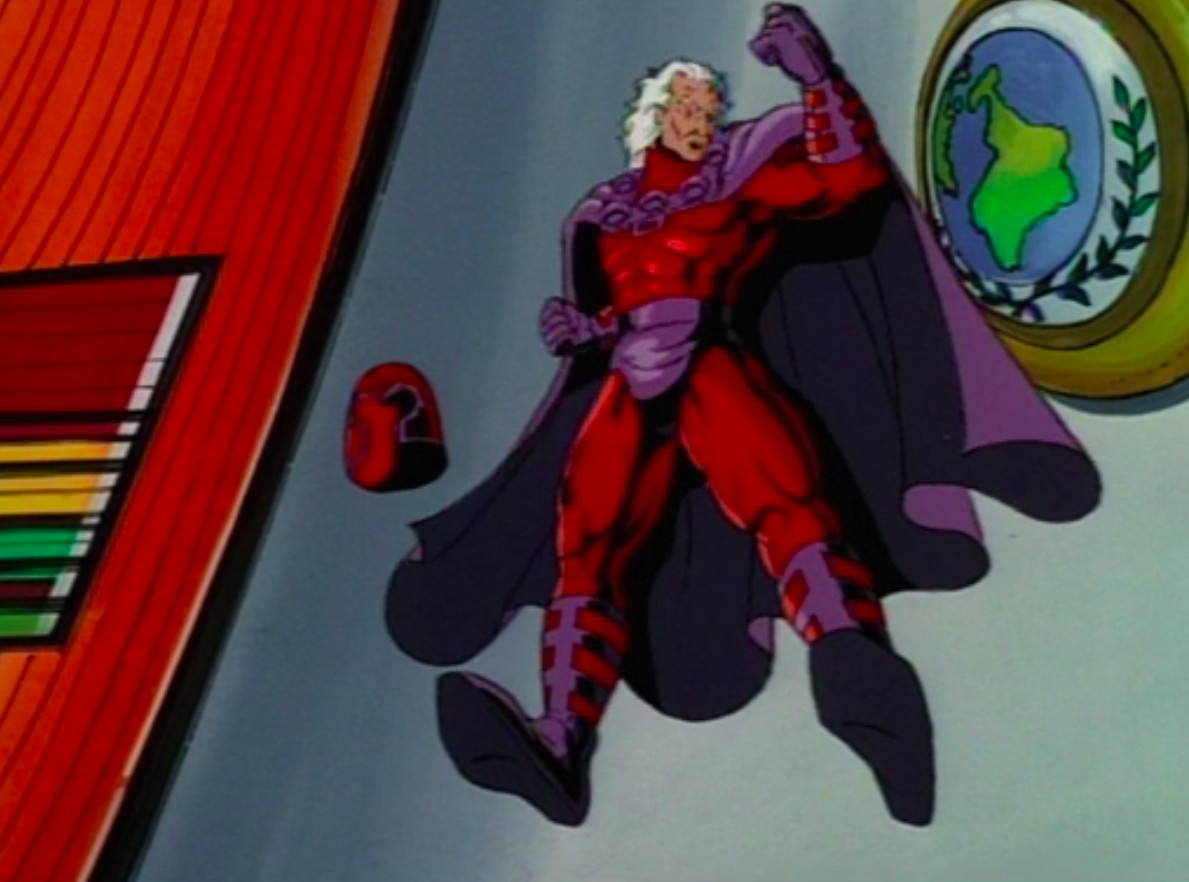 Magneto flies above the UN in X-Men The Animated Series