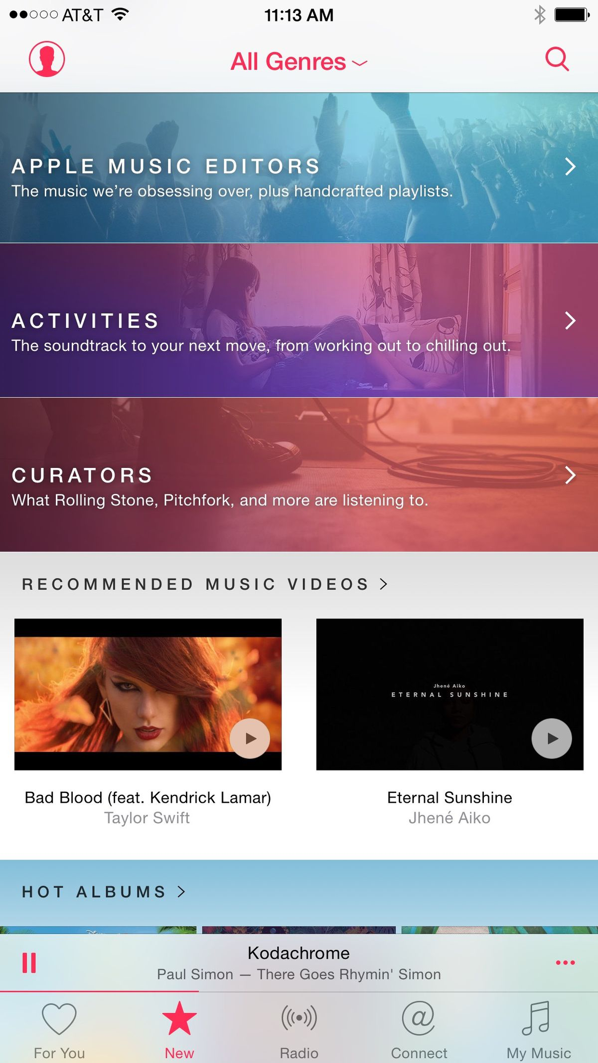 Apple Music uses human curators to suggest songs.
