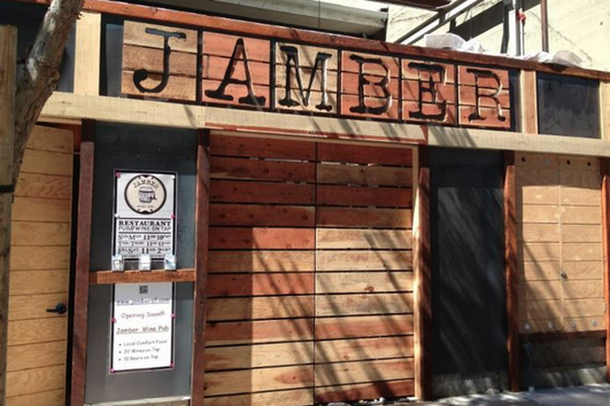 "Jamber's new exterior a la Jess Voss and <a href=""http://www.cdrconstruction.net/"">CDR Construction</a>."