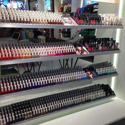 Topshop Beauty nail polishes in a rainbow of hues.