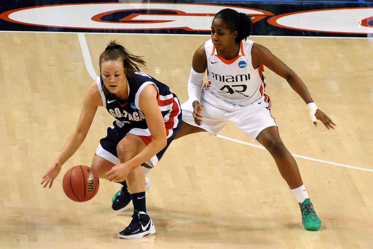 Miami Hurricanes wing Shenise Johnson put up some impressive statistics in her senior year, but it's the intangibles that make her one of the top prospects in the 2012 WNBA Draft. <em>James Snook-US PRESSWIRE</em>