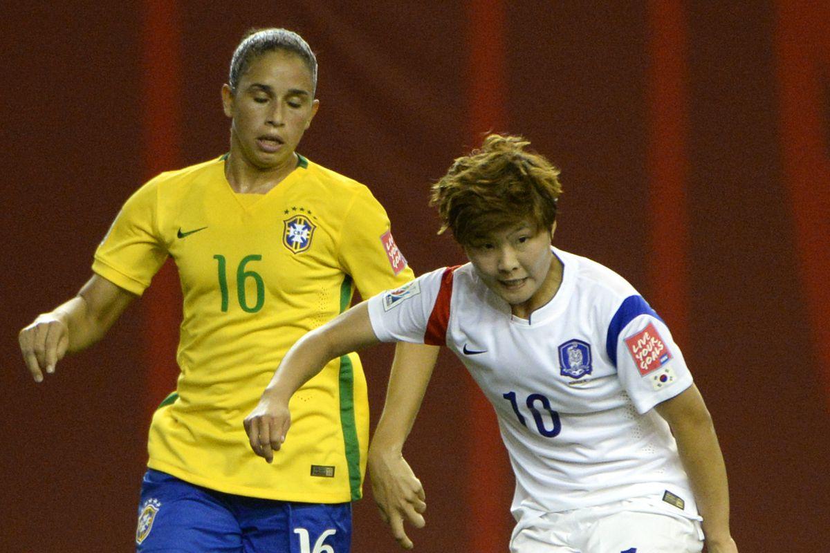 Rafaelle's the Brazilian one.